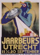 Vintage Dutch poster - Utrecht's Fair (1934)